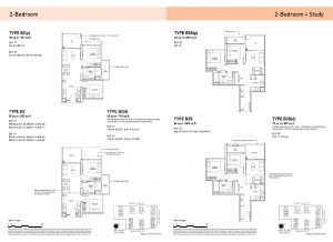 2-Bedroom & 2-Bedroom + Study Types