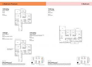 2-Bedroom Premium & 3-Bedroom Types