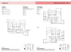 3-Bedroom & 3-Bedroom Premium + Flexi Types
