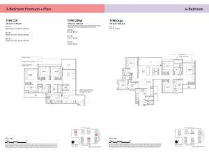 3-Bedroom Premium + Flexi & 4-Bedroom Types