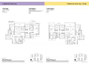 4-Bedroom Dual-Key & 5-Bedroom Dual-Key + Study Types