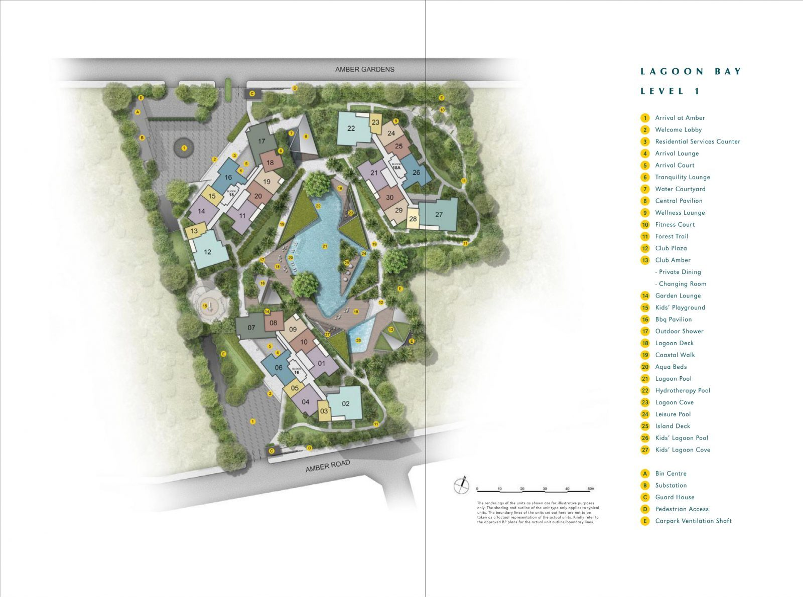 Amber Park's site plan and facilities