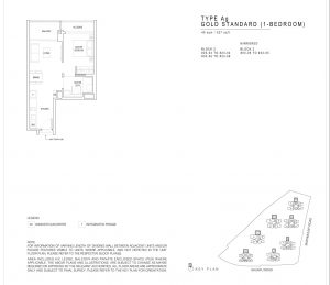 JadeScape condominium one-bedroom floor plan