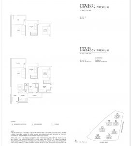 JadeScape condominium two-bedroom floor plan