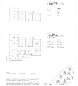 JadeScape condominium three-bedroom floor plan
