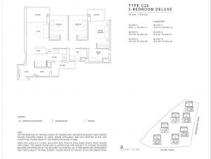 JadeScape condominium three-bedroom floor plan