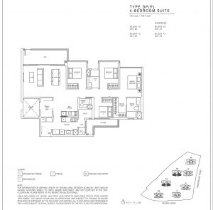 JadeScape condominium four-bedroom floor plan