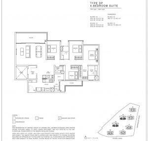 JadeScape condominium four-bedroom floor plan