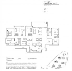 JadeScape condominium five-bedroom floor plan