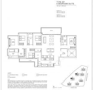 JadeScape condominium five-bedroom floor plan
