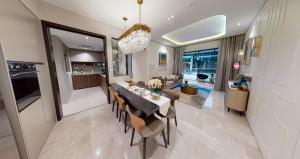 JadeScape condominium showflat four-bedroom view from foyer