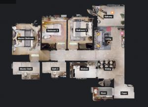 JadeScape condominium showflat three-bedroom overview