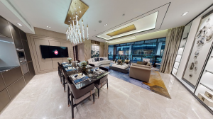 JadeScape condominium showflat five-bedroom view from private lobby