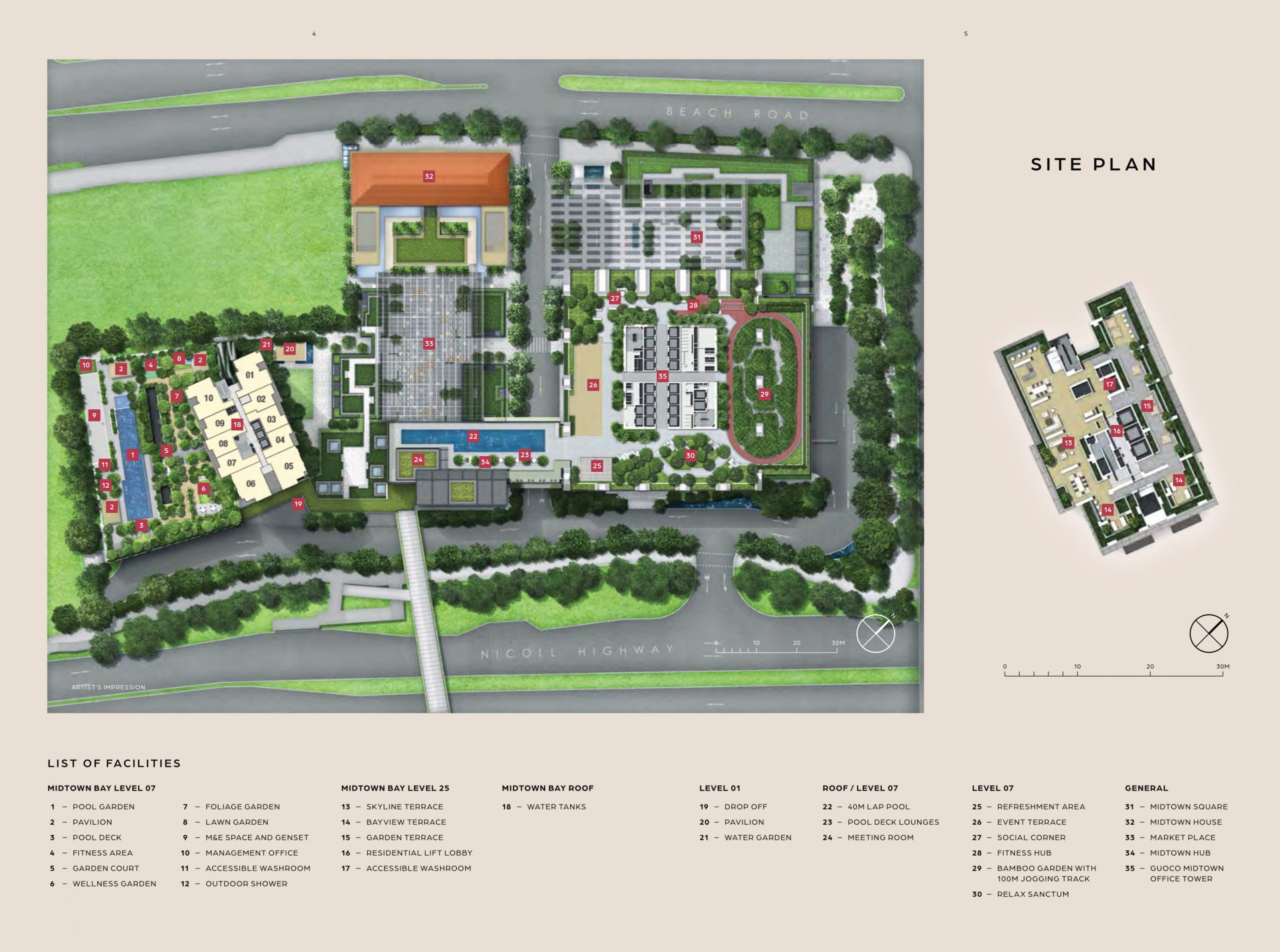Midtown Bay's site plan and unit distribution