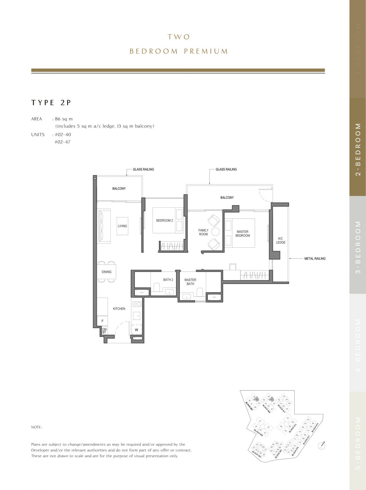 Parc Komo's two-bedroom premium type