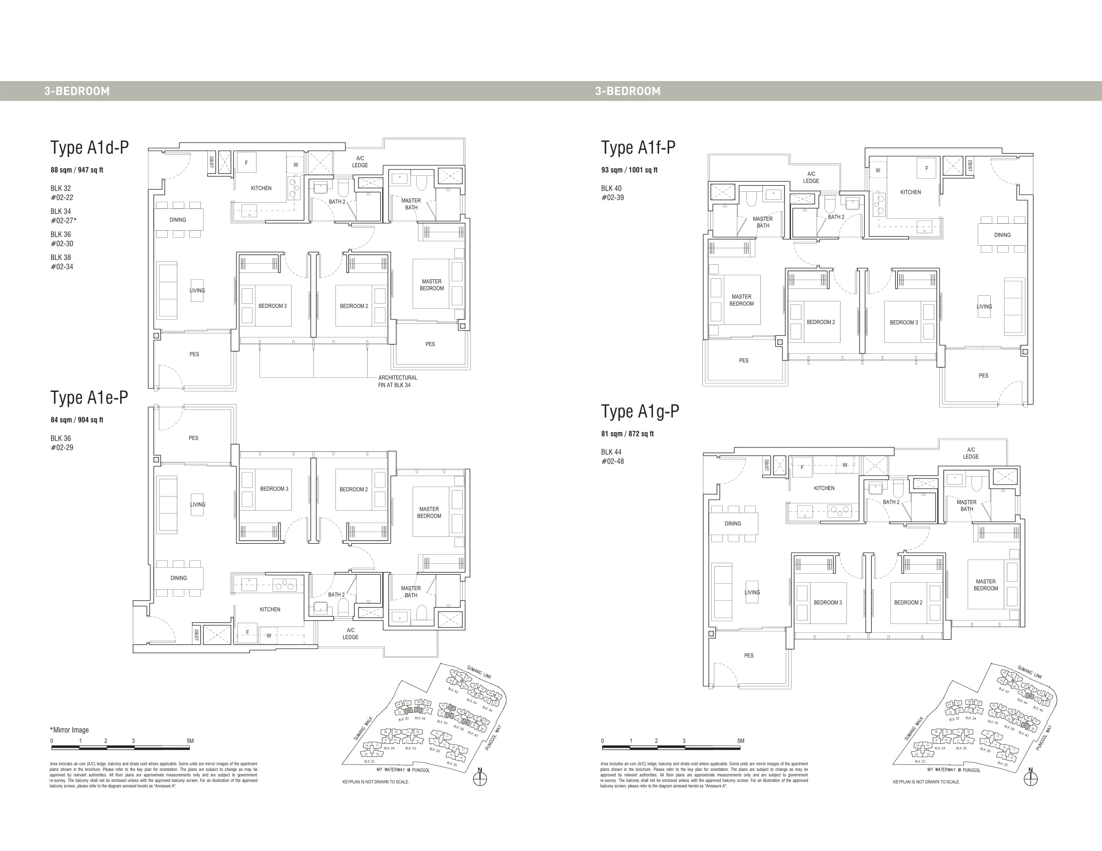 Piermont Grand EC's three-bedroom and three-bedroom penthouse types
