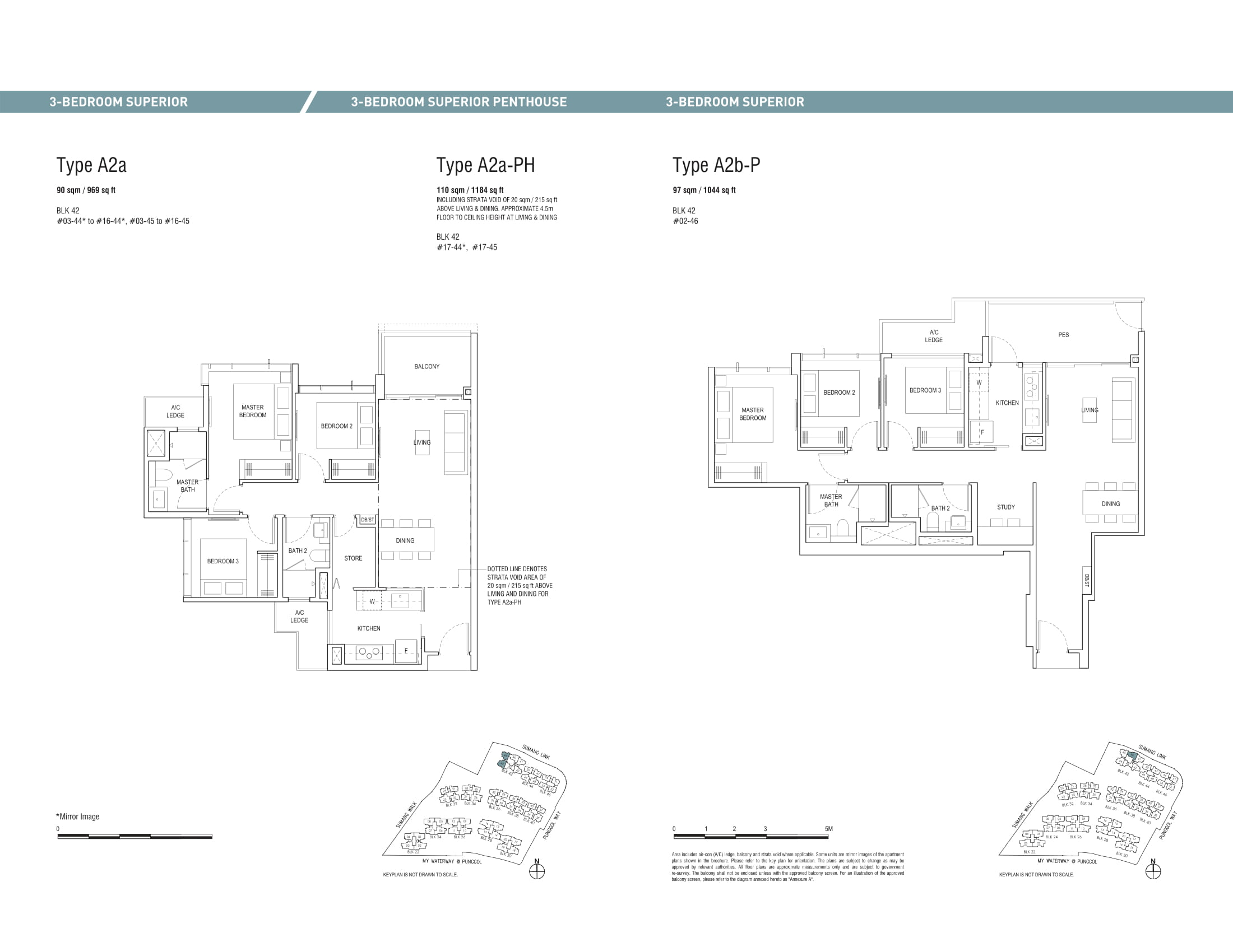 Piermont Grand EC's three-bedroom superior and three-bedroom superior penthouse types