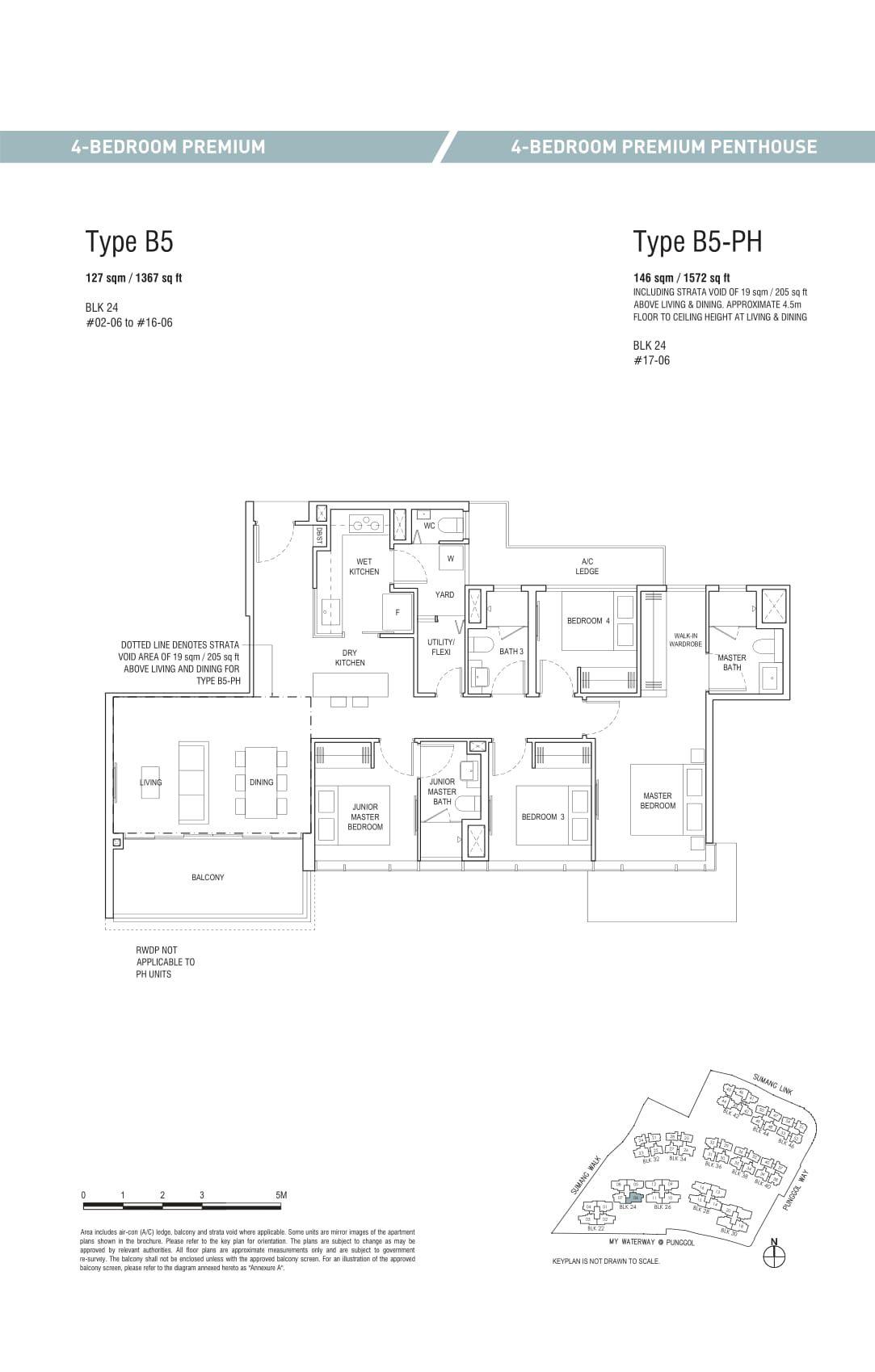 Piermont Grand EC's four-bedroom premium and four-bedroom premium penthouse types
