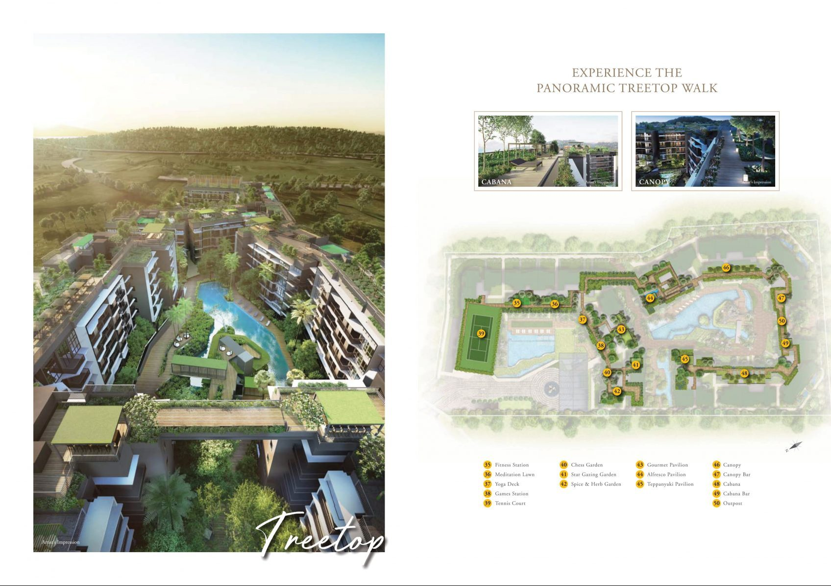 Daintree Residence's site plan and facilities