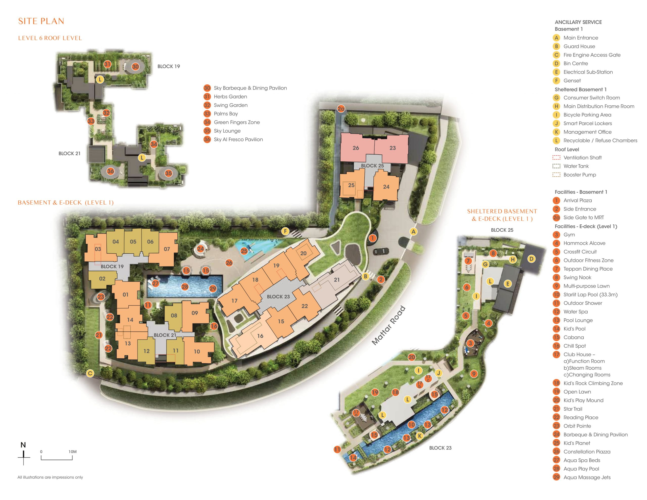 The Antares site plan and facilities