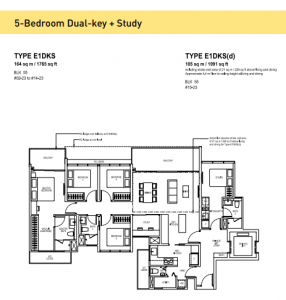 The Tapestry at Tampines 5-Bedroom Dual-Key + Study Types