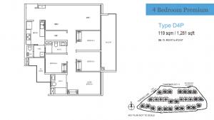 Treasure at Tampines Four Bedroom Premium Type D4P