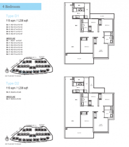 Treasure at Tampines Four Bedroom Types D1 & D2
