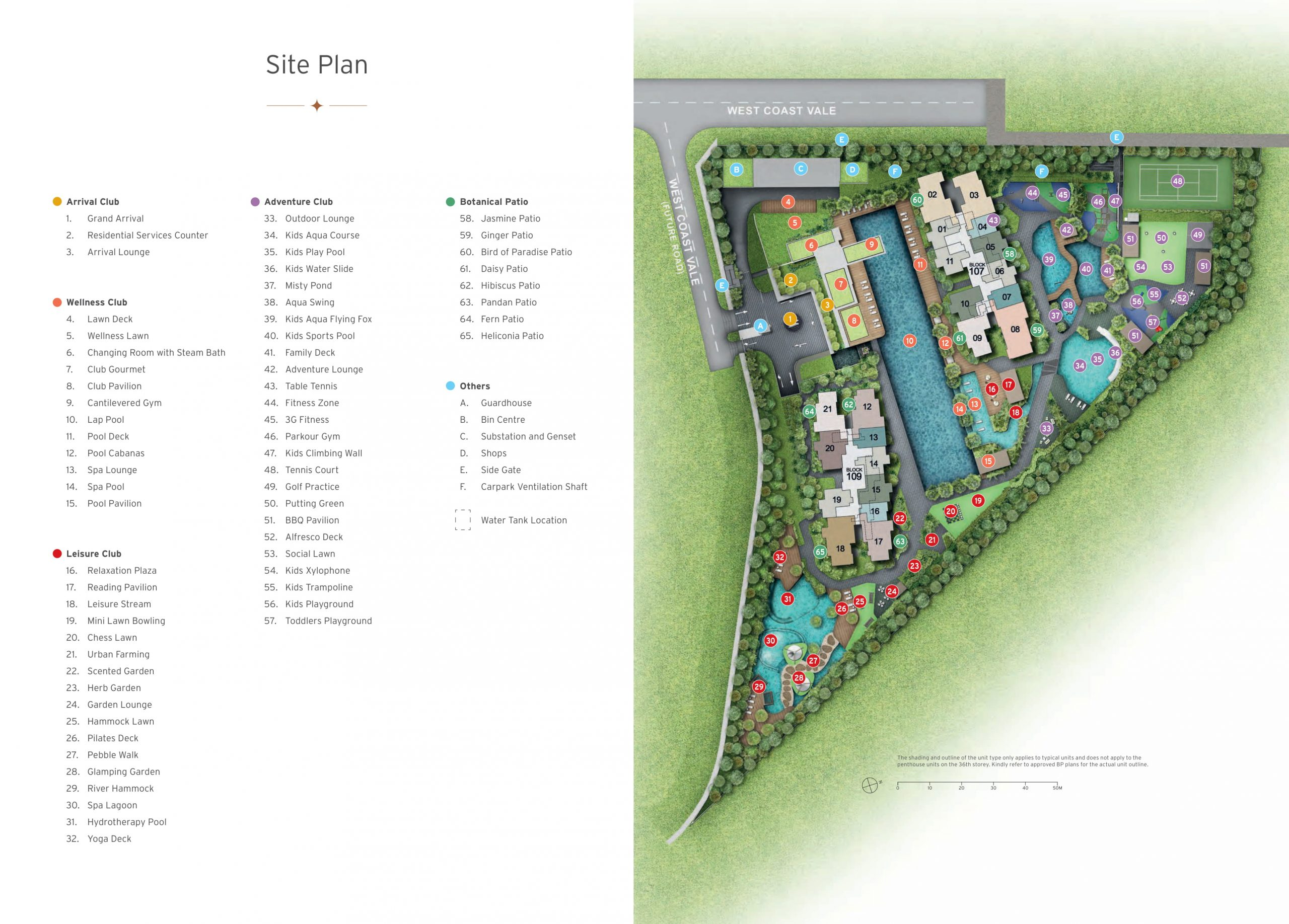 Whistler Grand's site plan and facilities