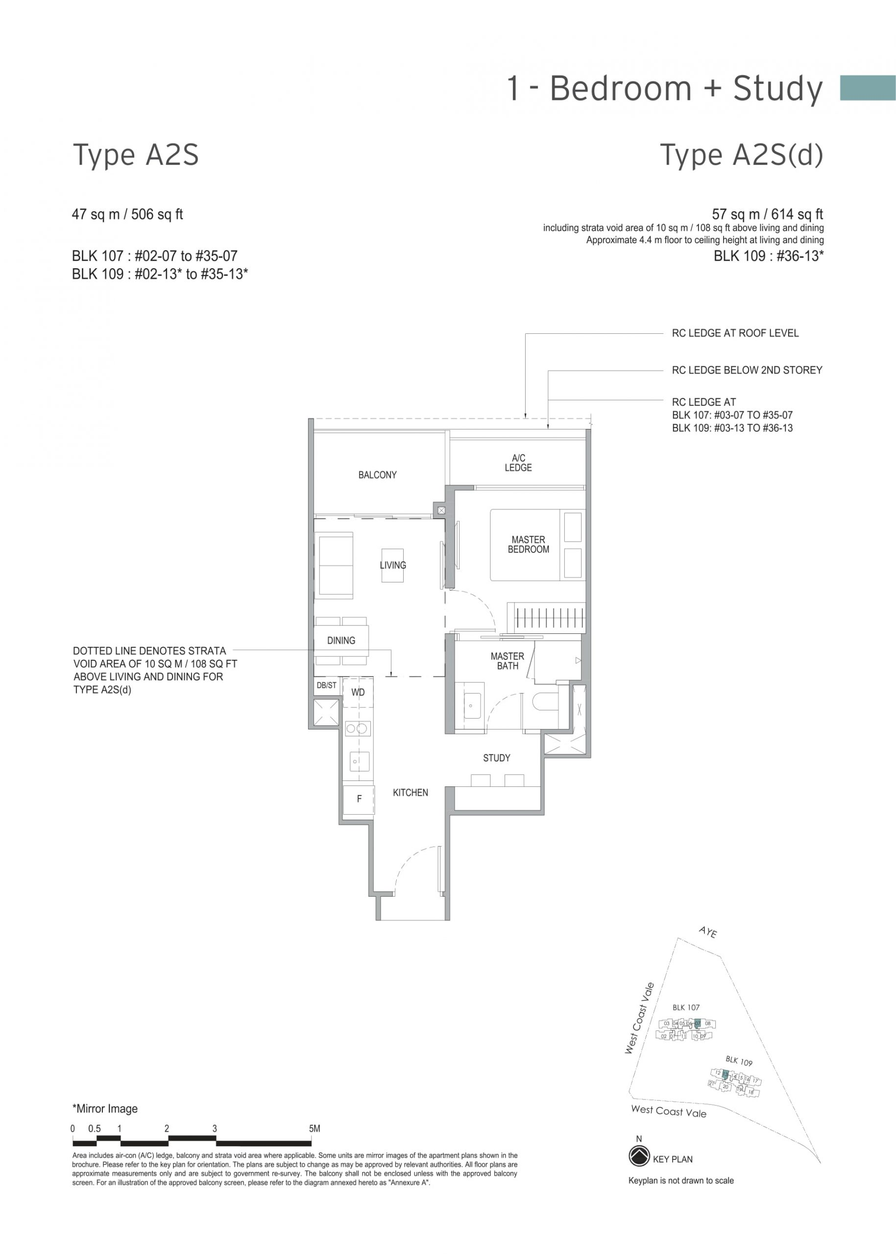 Whistler Grand's one-bedroom & one-bedroom + study types