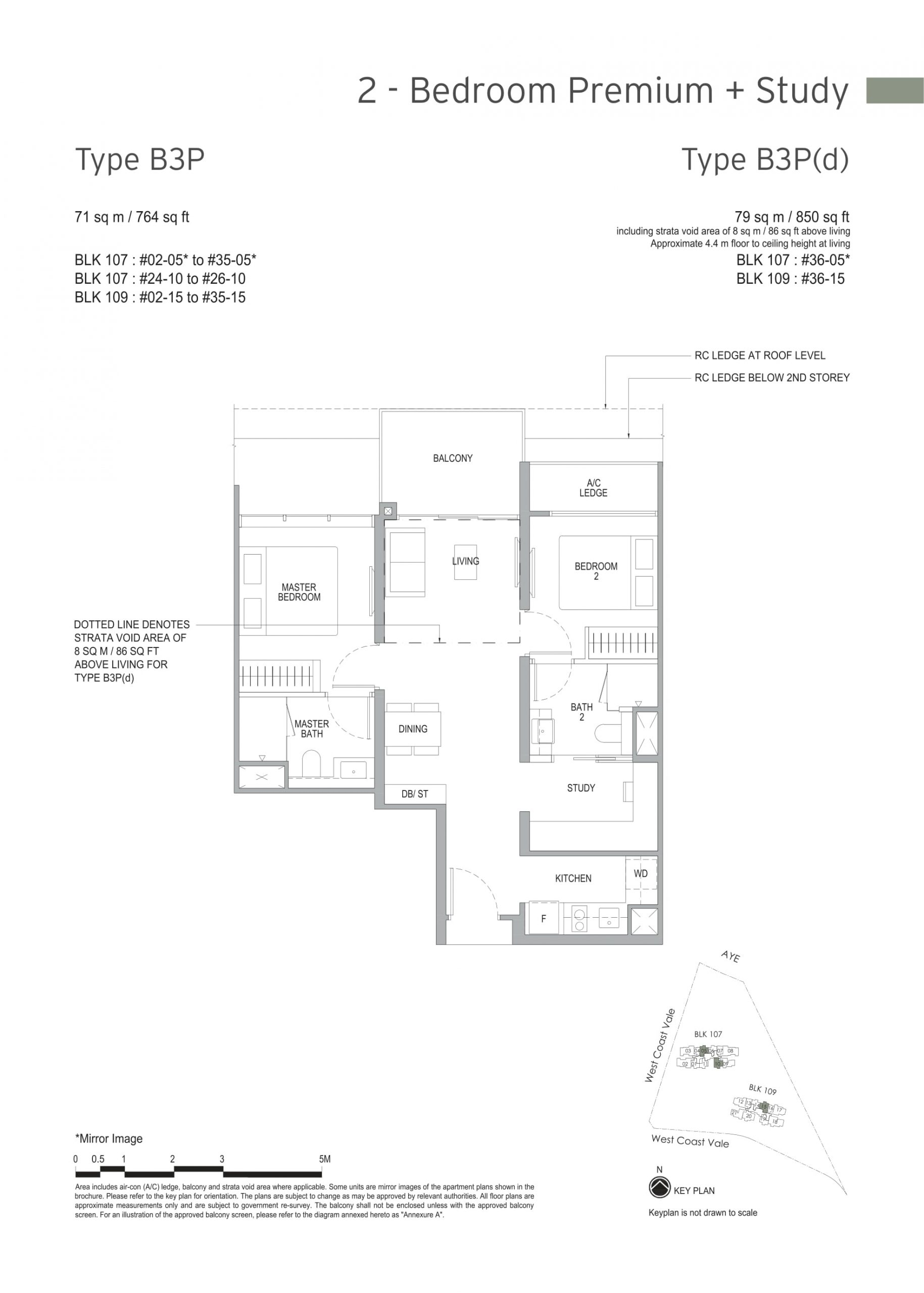 Whistler Grand's two-bedroom premium + study types