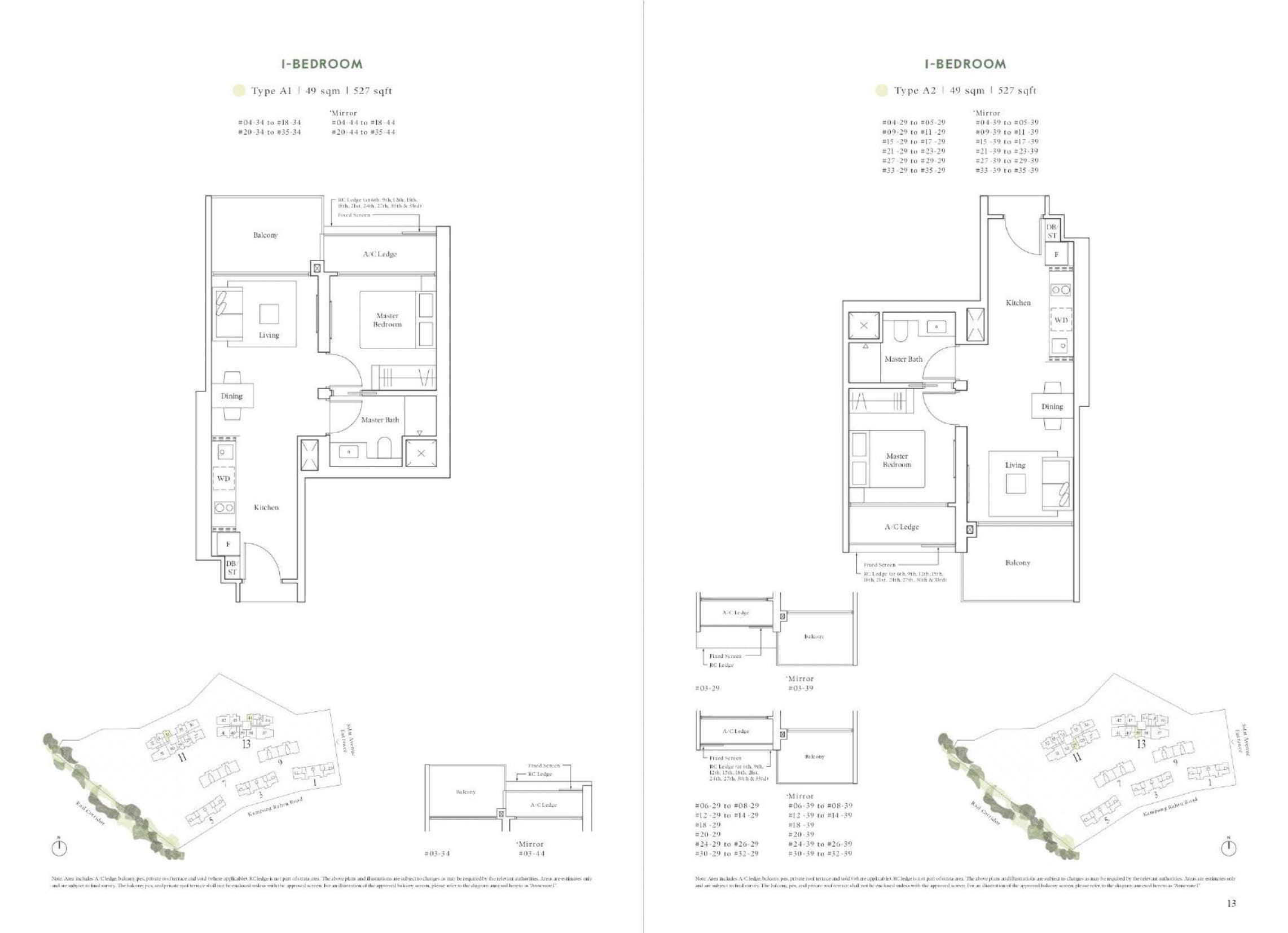 Avenue South Residence's Horizon Collection one-bedroom types