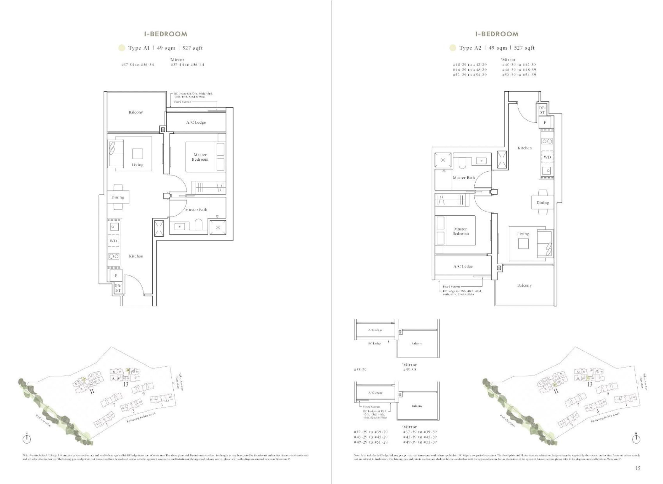 Avenue South Residence's Peak Collection one-bedroom types