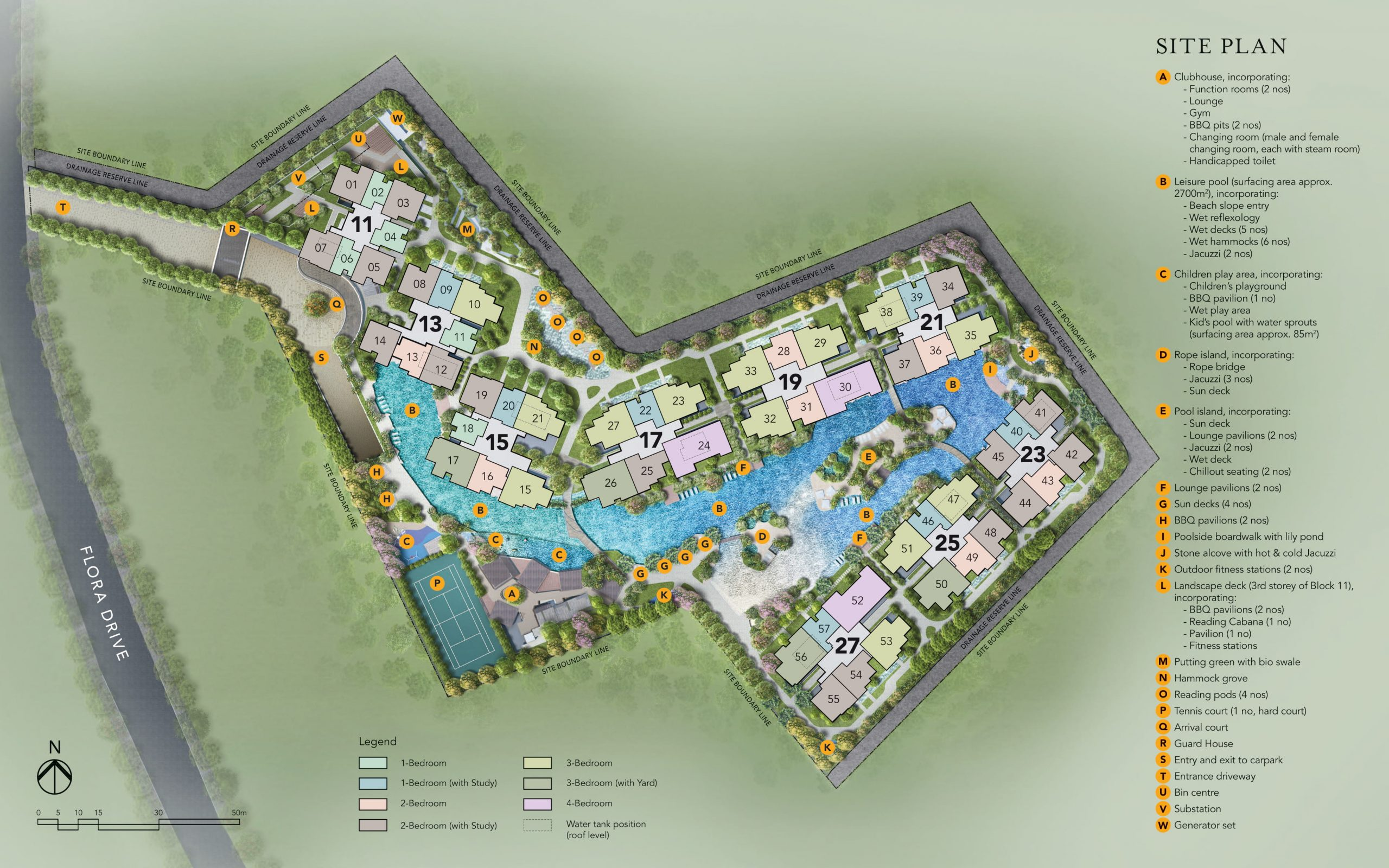 The Jovell's site plan and facilities